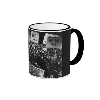 I Like Ike Dwight D. Eisenhower Campaign Ringer Mug