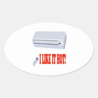 I Like It Hot Oval Sticker