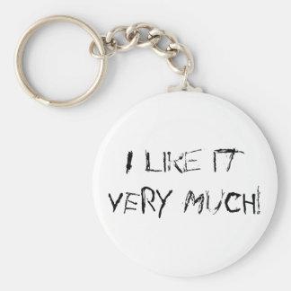 I like it VERY MUCH! Basic Round Button Keychain