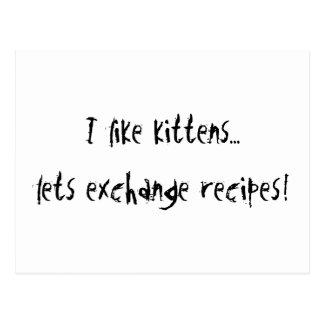 I Like Kittens Postcard