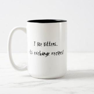 I Like Kittens Two-Tone Coffee Mug