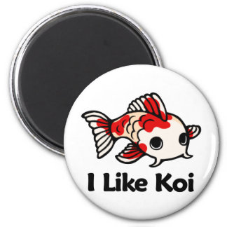 I Like Koi 2 Inch Round Magnet
