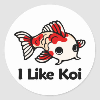 I Like Koi Classic Round Sticker
