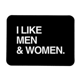 I LIKE MEN AND WOMEN FLEXIBLE MAGNET