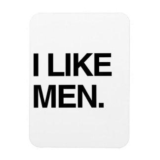 I LIKE MEN RECTANGULAR MAGNETS