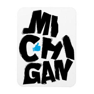 I Like Michigan State Typographical Map Art Rectangular Photo Magnet