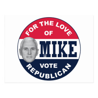 I-LIKE-MIKE-BUTTON-REPUBLICAN POSTCARD