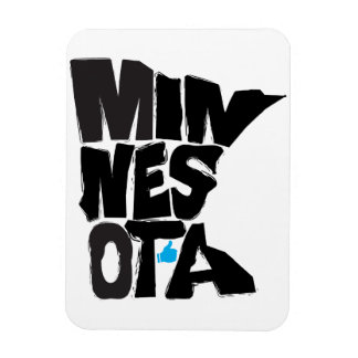 I Like Minnesota State Typographical Map Art Rectangular Photo Magnet