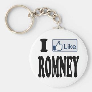 I Like Mitt Romney President 2012 Keychain