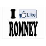 I Like Mitt Romney President 2012 Post Card