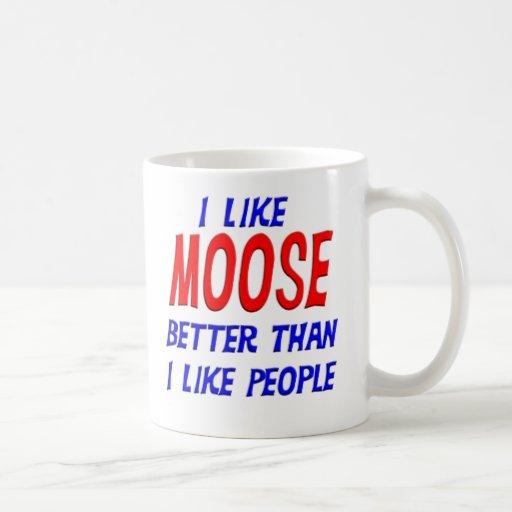 I Like Moose Better Than I Like People Mug