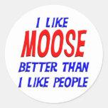I Like Moose Better Than I Like People Sticker
