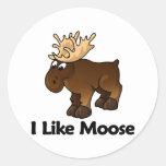 I Like Moose Classic Round Sticker