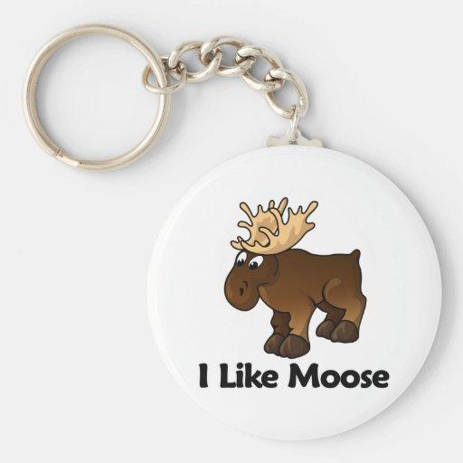 I Like Moose Key Chains