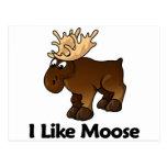 I Like Moose Postcard