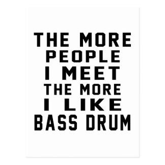 I Like More Bass drum Postcard