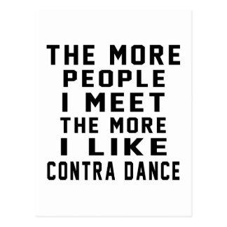 I like More Contra Dancing Postcard
