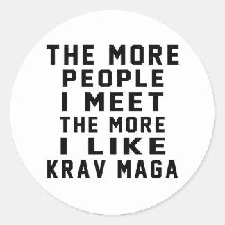 I like More Krav Maga Classic Round Sticker
