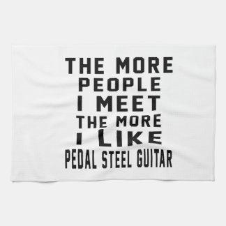 I Like More Pedal Steel Guitar Kitchen Towel