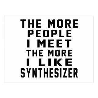 I Like More Synthesizer Postcard