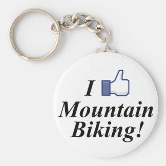 I LIKE MOUNTAIN BIKING! BASIC ROUND BUTTON KEYCHAIN