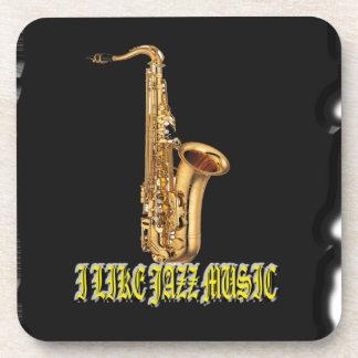I Like Music Jazz  With Background Coasters