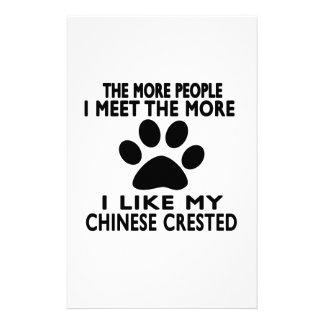 I like my Chinese Crested. Personalized Stationery