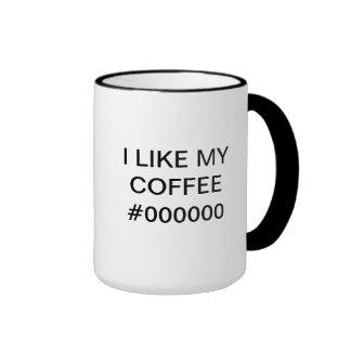 I LIKE MY COFFEE #000000 - Mug for Web designer
