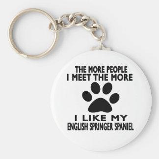 I like my English Springer Spaniel. Key Chain
