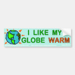 I like my globe warm car bumper sticker