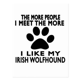 I like my Irish Wolfhound. Postcard
