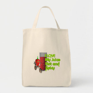 I like my juice hot & spicy tote bag