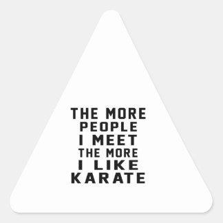 I like my Karate. Triangle Sticker