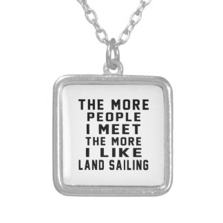 I like my Land Sailing. Personalized Necklace