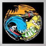 """I like MY life"" beach poster"