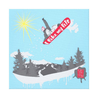 """I like My life"" snowboarding canvas"
