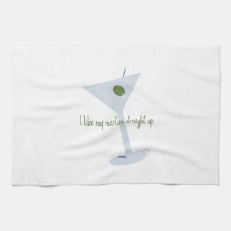 I Like My Martini Straight Up Towel