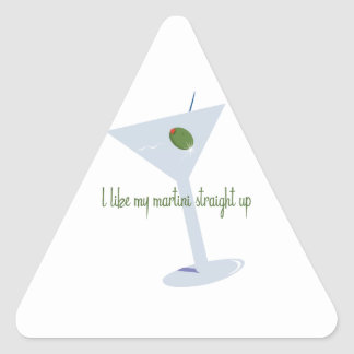 I Like My Martini Straight Up Stickers