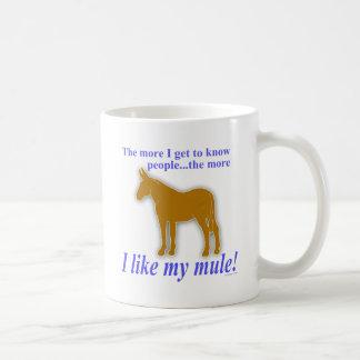 I Like My Mule Classic White Coffee Mug