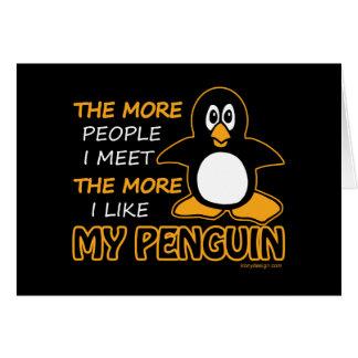 I Like My Penguin Card