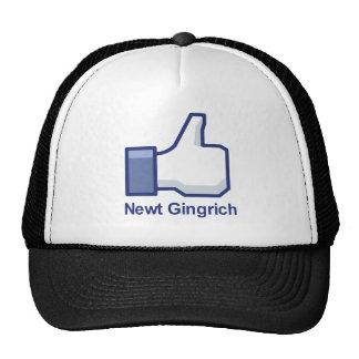 I LIKE NEWT GINGRICH MESH HATS