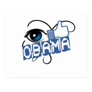 i like obama postcard