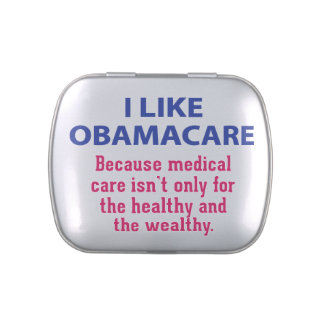 I Like ObamaCare - For Everyone Jelly Belly Candy Tins