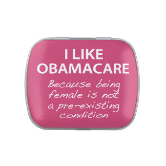 I Like ObamaCare - For Women Jelly Belly Tin