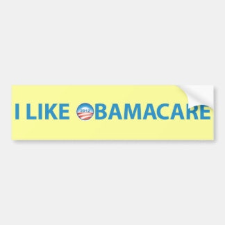 I Like ObamaCare With Obama Logo Bumper Sticker