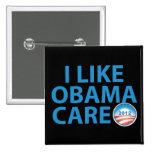 I Like ObamaCare With Obama Logo Pinback Button