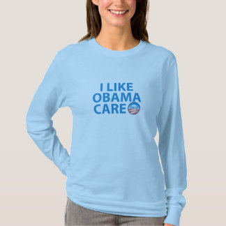 I Like ObamaCare With Obama Logo T-Shirt
