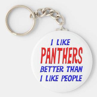 I Like Panthers Better Than I Like People Keychain