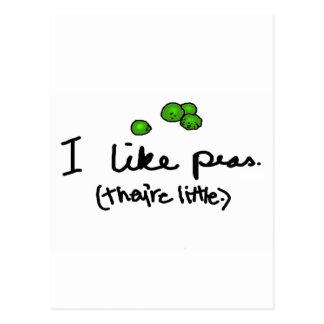 I Like Peas Postcard