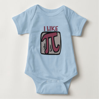 I like pi baby bodysuit